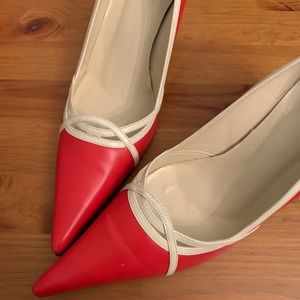Shoes - Classic red and cream shoe. Never worn.